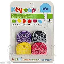 Lot Set 4 Assorted Color Owl Keys Management Shirt Cap Cover Holder Organizer