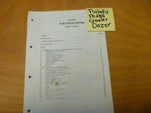Fiat-Allis FD255 Crawler Dozer ELECTRICAL SYSTEM WIRING DIAGRAMS Service Manual