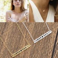 Moon Phase Necklace Alloy Pendant Women Cycle Wiccan Jewelry Gift Silver Gold