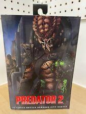 PREDATOR 2 Ultimate Battle Damaged City Hunter Figure NECA NEW Dinged Box