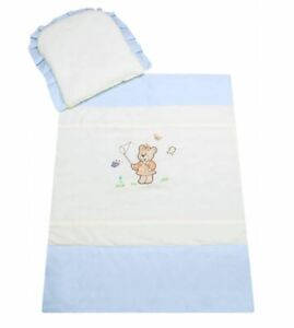 Baby Nursey Bedding Set For Stroller 70x80cm Cotton Pillow With Quilt Teddy Bear