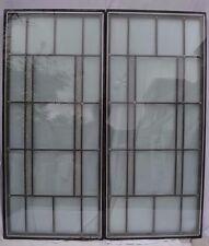 2 double glazed encapsulated traditional leaded light glass windows. R526e.