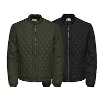Only & Sons Mens Long Sleeves Quilted Jacket Casual Biker Jackets Coat Outerwear