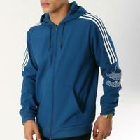 New adidas Originals Mens Outline Hooded Top  Sz XL  Blue  hoody sweatshirt