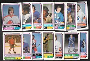 1975-76 OPC 75-76 O PEE CHEE WHA AMH HOCKEY CARD 1-132 SEE LIST
