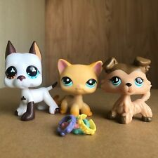 3xGreat Dane Short Hair Cat Brown Collie Dog Littlest Pet shop LPS Toy+4 Collars