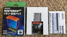 N64 Expansion Pak Pack Japanese Import Complete in Box CIB *Tested*