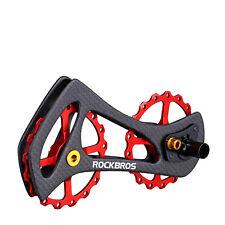 RockBros Rear Derailleur Cage Pulley Derailleur Jockey Wheel 17T Carbon Fiber