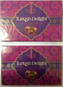 Beech's Fine Chocolates Milk Chocolate Turkish Delight 2 x 150g Boxes