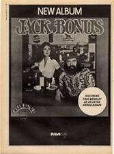 Jack Bonus Grunt Rec. LP advert Time Out cutting 1972