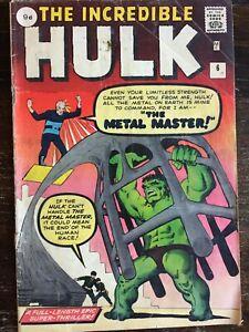 Incredible Hulk #6 1st Metal Master - 1963 Marvel Comics