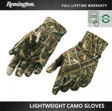 Remington Lightweight Real Tree Camo Hunting Gloves Touchscreen Finger Grip Palm