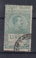 ERITREA 1923 MARCHE DA BOLLO TASSA FISSA 2 LIRE USATA DIFETTOSA 1