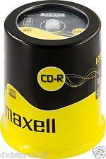 Maxell CD-R 80, 700MB in Campana da 100 Pezzi (624841)