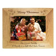 PERSONALISED WOOD PHOTO FRAME unique family friends Christmas wedding gift idea