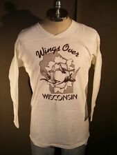 VTG 1990's Wings Over Wisconsin Shirt by Russell Athletic Sz Large