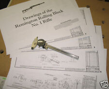 Remington Rolling Block No. 1 Rifle Drawings!!