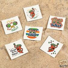 FIRED UP FOR FAITH 12 Temporary kids TATTOOS Jesus L@@K