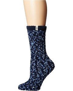 Women's Socks UGG COZY CHENILLE Warm Crew Socks UAS0011W BLACK / GREY