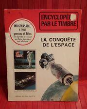 vintage 1970 Encyclopédie par le Timbre.  # 28 . la Conquête de l'Espace