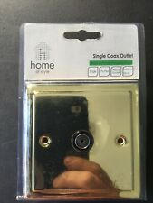 White Insert Homebase Decor Collection 2G Double Switch B18 Stainless Steel