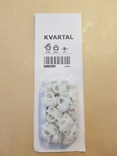 IKEA Kvartal Pack of 24 Curtain Glider Hooks for Track System 701.886.83 NEW