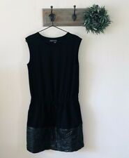 Vince Black Lambs Leather Drop Waist Dress XS