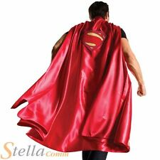Adult Deluxe Superman Cape Mens Halloween Superhero Fancy Dress Costume