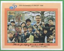Lot of 4 - 1996 Guyana Stamps # 3027 Cat Val $120 UNICEF 50th Anniversary