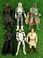 "Star Wars & Clone Wars Action Figure Bundle 3.75"" Darth Boba Fett Pilot"
