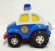 SMALL PLASTIC VOLKSWAGEN AMERICAN POLICE PULL TOY CAR