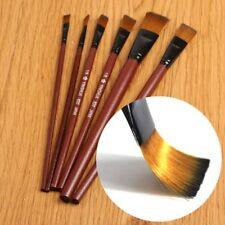New 6pcs Nylon Brush Brushes for Oil Watercolor Artist Painting Art Paint