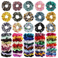 65 Pcs Elastic Hair Scrunchies Bands Scrunchies Ties Accessories Tie Satin Bobbl
