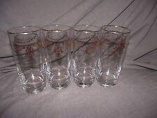 Set of 4 Lenox Eternal Christmas 16 ounce Glass Glassware Tumblers