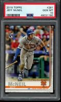 2019 Topps Series 1 Jeff McNeil RC #281 PSA 10 Gem Mint Card Rookie NY Mets
