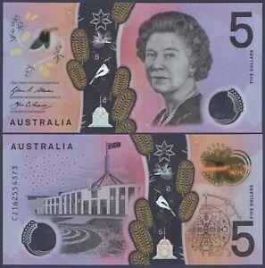 AUSTRALIA P62***5 DOLLARS POLYMER***ND2016***UNC GEM***USA SELLER