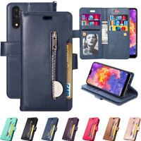 For Huawei P20 Lite/Pro Leather Flip Wallet Magnetic Card With Strap Case Cover