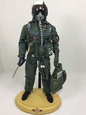 "1/6 DRAGON US NAVY F-14 TOMCAT ""TOP GUN"" FIGHTER PILOT W/BASE DID BBI RC 21"