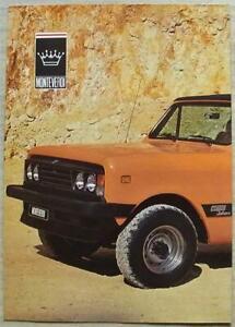 MONTEVERDI SAHARA SUV Sales Brochure 1978-80 English & German Text