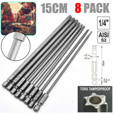 8 Stk Torx Bits Schraubendreher Set Extra Lang (150Mm) Und Magnetisch S2
