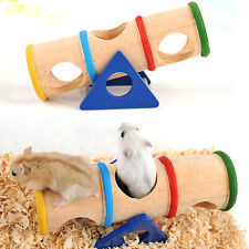 Dwarf Hamster Toys Rainbow On tThe Seesaw Wooden Non-Slip Sports Leisure Cage