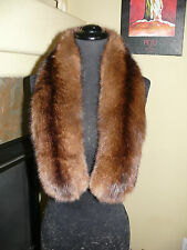 Gorgeous Russian Sable Fur Stole Collar Scarf 4 Coat Jacket
