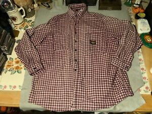 MENS RASCO FR LONG SLEEVE SHIRT 2XL FIRE FLAME RESISTANT WELDING FORGE COOKING