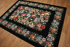"5'7"" x 7'10"" Made in Spain French Needlepoint Aubusson Area Rug 100% Wool OR7682"