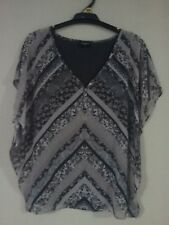 Ladies, Size XS, Jeans West, Grey Toned Batwinged Top