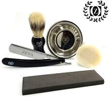 Straight Razor Whetstone Wet Stone Kit w/ SHAVING MUG BRUSH SOAP Shave Ready