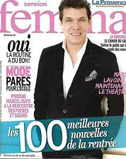 VERSION FEMINA N°699 24 AOUT 2015  MARC LAVOINE/ BEST OF RENTREE/ ROUTINE/ RUFO