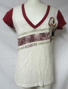 Washington Redskins Women's Size Medium V-Neck T-Shirt A1 3233