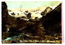 Cartolina Valle D'Aosta -Val D'Ayas-Pian Di Verra m. 2047 E I Ghiacciai Del Rosa
