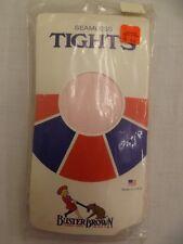 Vtg 70s 80s Buster Brown Light Pink Seamless Tights Girls Sz 11-12 / 74-87 lbs